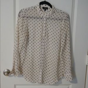 Theory Polka Dot Button Up